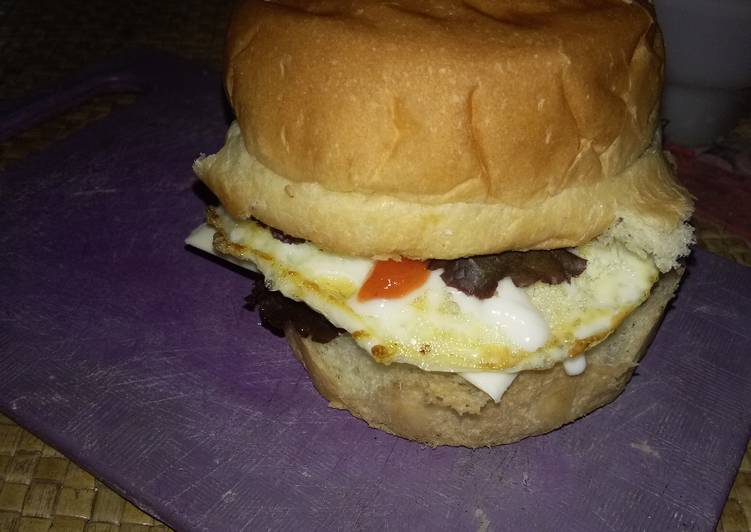 Resep Burger Simple Enak