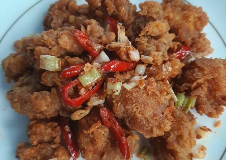 Resep Ayam popcorn goreng bawang