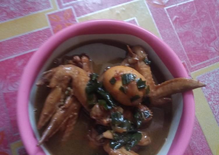 Resep Ayam kecap kuah