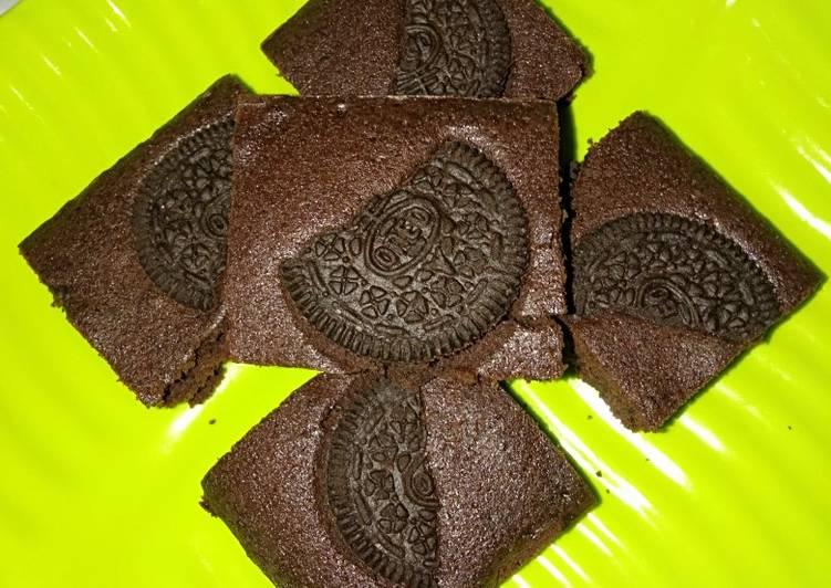 Resep Chewy Brownies oreo