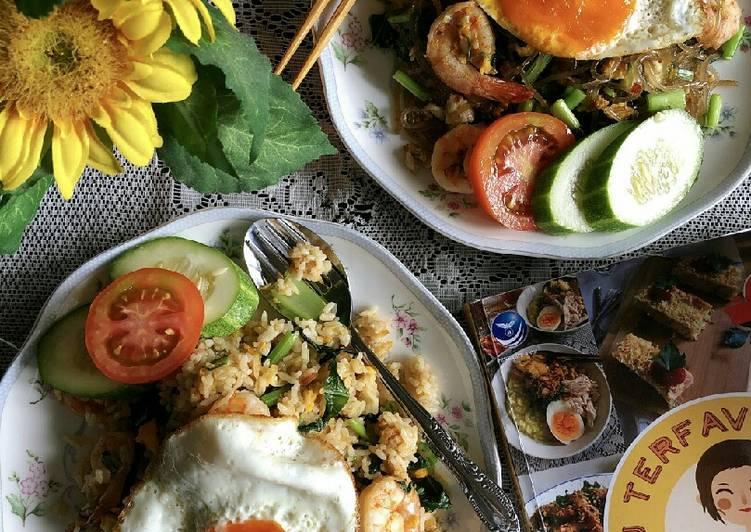Resep Nasi dan Bihun Goreng Thai Udang