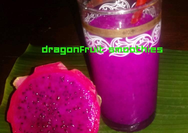 Resep 1Dragon Fruit Smoothie
