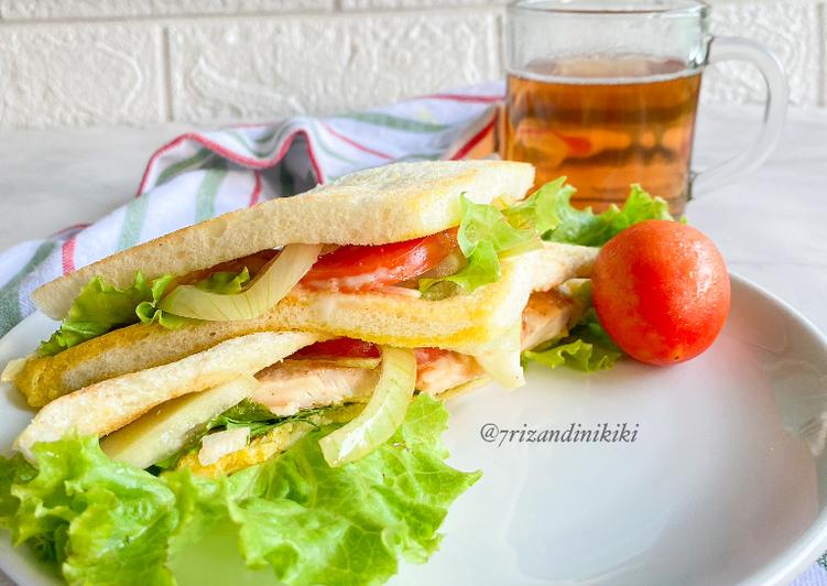 Resep Chicken sandwich