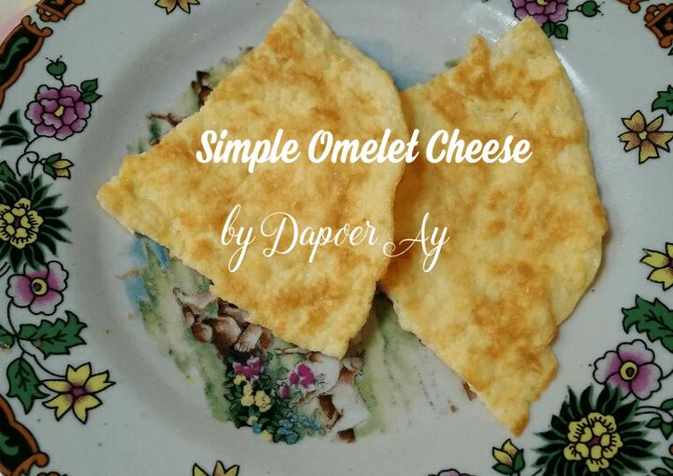 Resep Simple Omelet Cheese ala DEBM