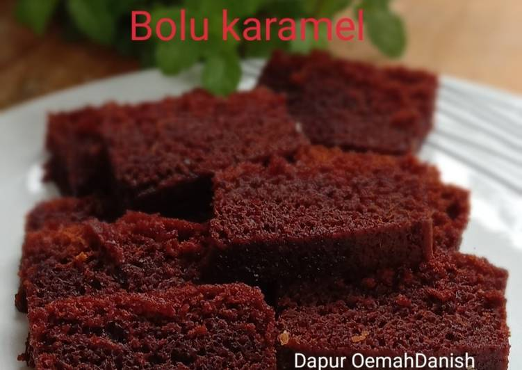 Resep Bolu karamel simple anti gagal