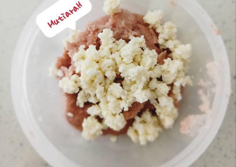 Resep MPASI 9 Bulan + Bubur Susu Beras Merah