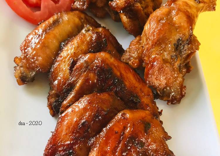 Resep Spicy chicken wings ala Pizza Hut