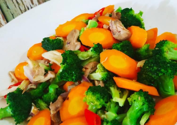 Resep Brokoli Wortel Saus Tiram