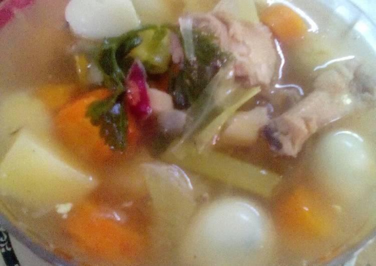 Resep Sop Ayam Telur Puyuh