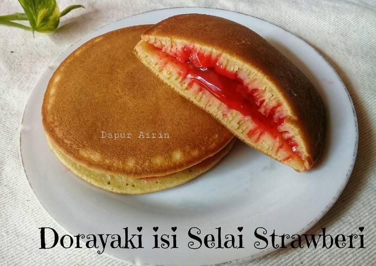 Resep Dorayaki Isi Selai Strawberi