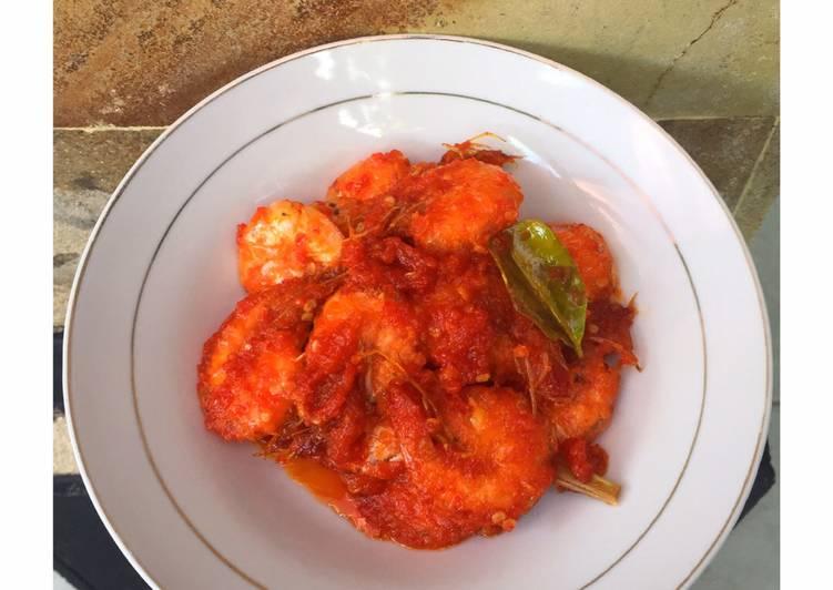 Resep Udang sambalado
