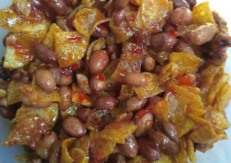 Resep Kering kentang asam pedas manis