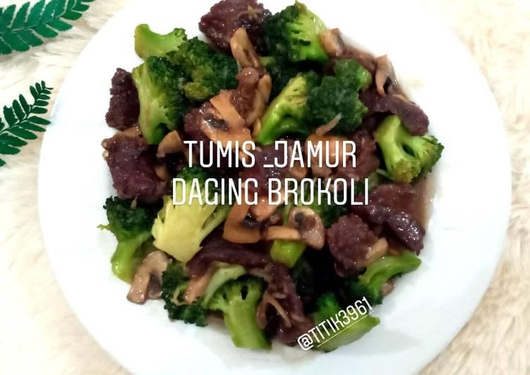 Resep Tumis_Jamur Daging Brokoli