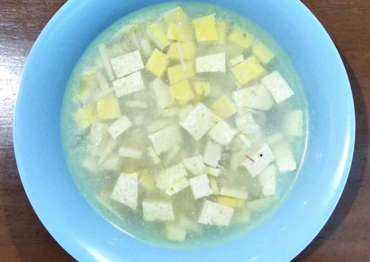 Resep Makanan Anak Sup Ikan Tenggiri & Tahu