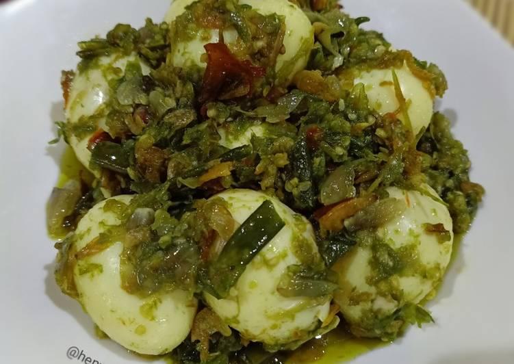 Resep Telur Balado Cabe Ijo & Rebon