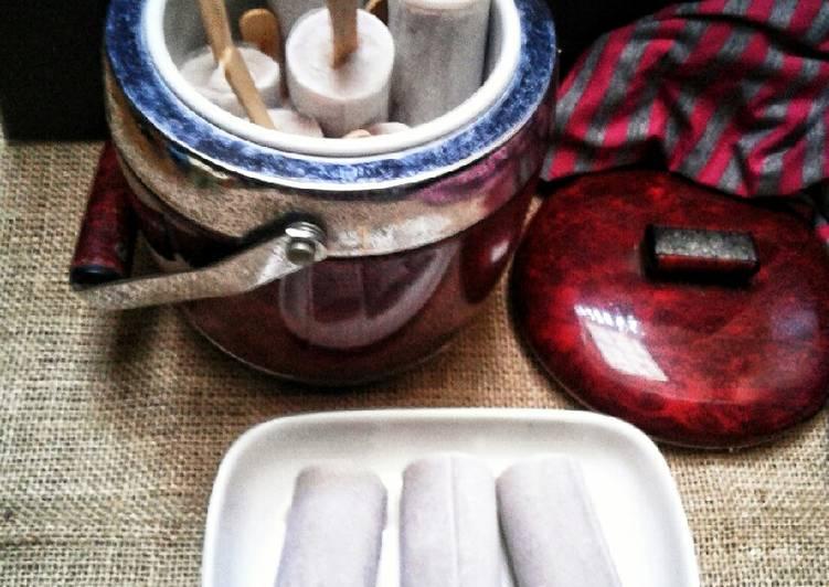 Resep Es potong singapore rasa kacang merah