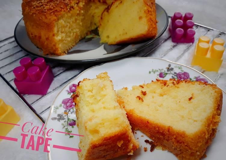 Resep Cake Tape Keju Kapas Simple