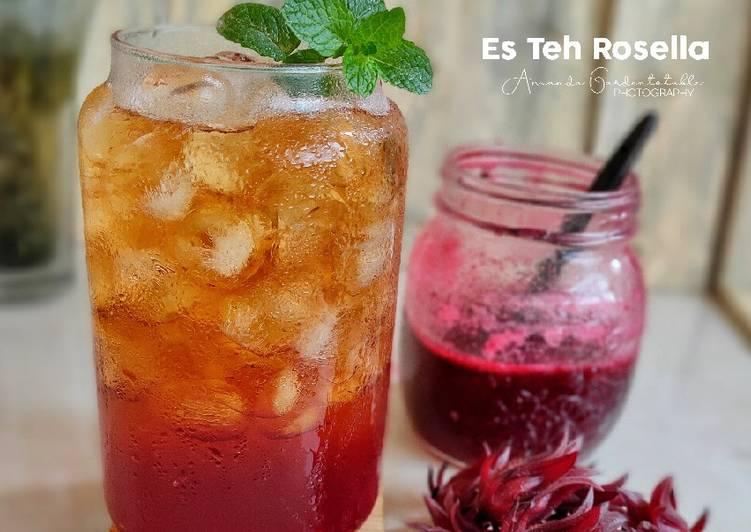 Resep Es Teh Rosella