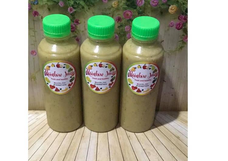 Resep Diet Juice Avocado Zucchini Golden Kiwi Tomato