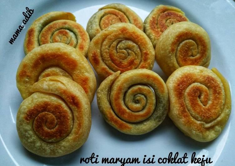 Resep Roti maryam isi coklat keju