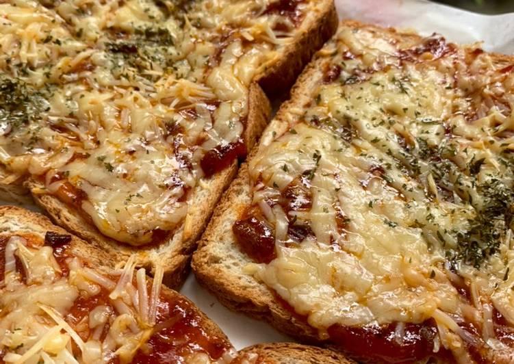 Resep BREAD PIZZA (ROTI GANDUM PIZZA) #dirumahAja #cemilan