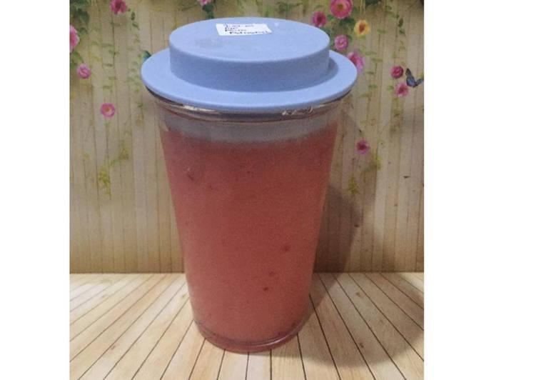 Resep Diet Juice Guava Red Radish Plum Pear