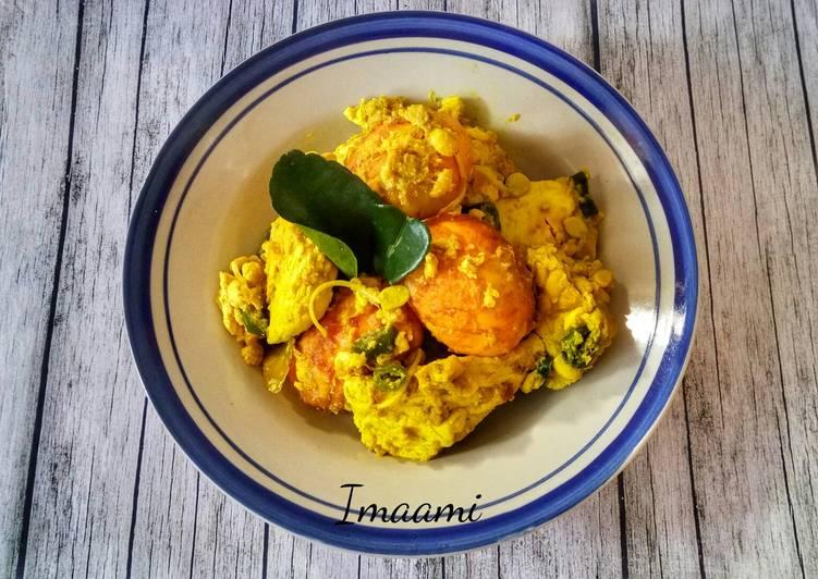 Resep Tempe Tahu Telur Masak Kuning