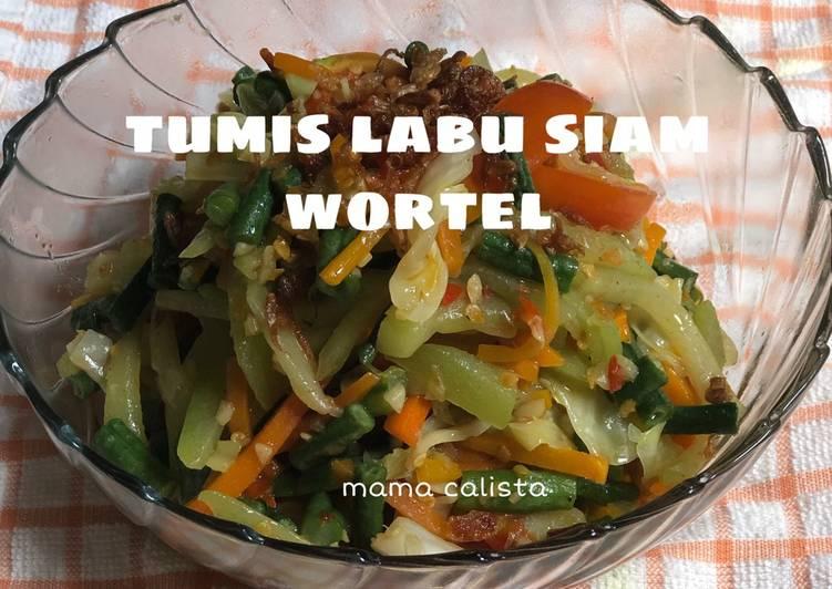 Resep Tumis labu siam wortel