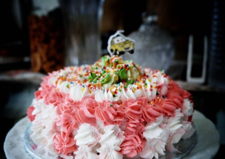 Resep Birthday cake for baby (Smash cake 1st birthday)