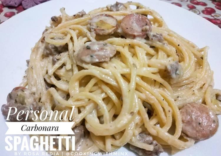 Resep Personal Carbonara Spaghetti