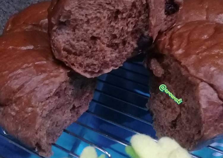 Resep Roti sobek chocochips tanpa telur