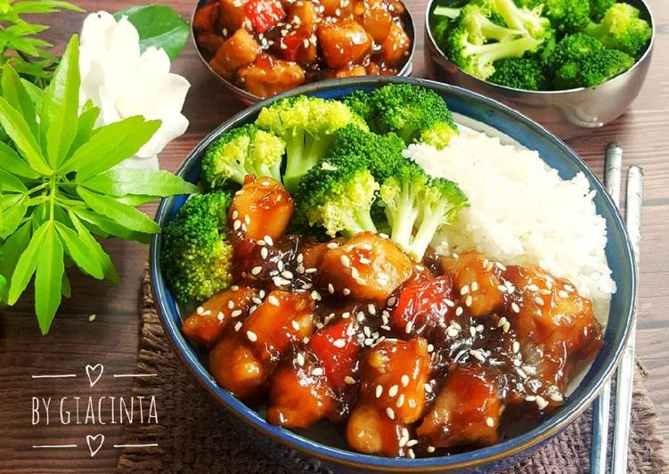Resep Teriyaki Chicken Bowl + Broccoli