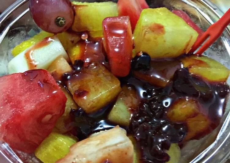 Resep Rujak buah (bumbu bali)