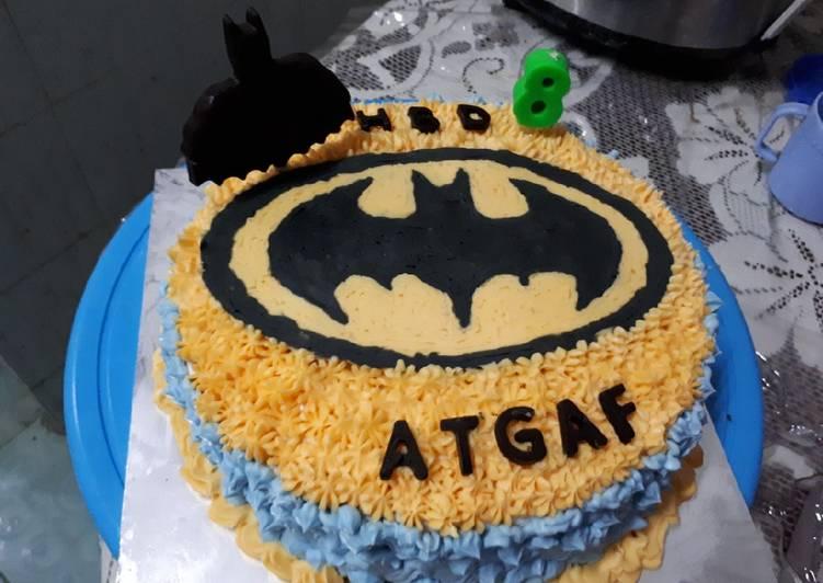 Resep Kue Ultah Batman sederhana