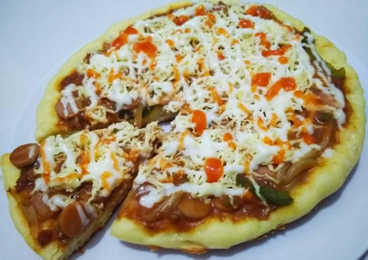 Resep Pizza teflon barbeque