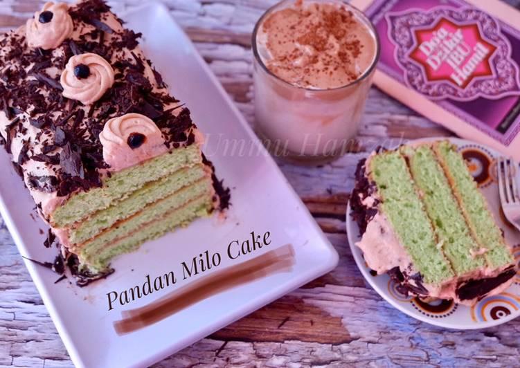Resep Pandan Milo Cake