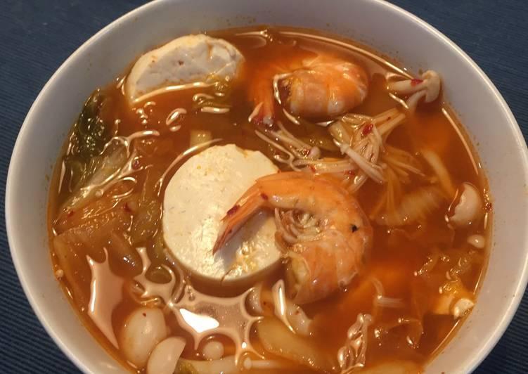 Resep Kimchi Jjigae Soup Korea