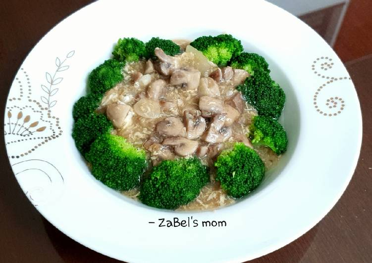 Resep Brokoli Saus Jamur Kaldu Udang