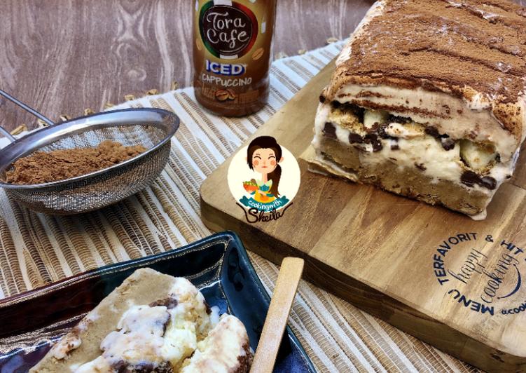 Resep Tiramisu Ice Cream Cake (4 Bahan Saja!!!)