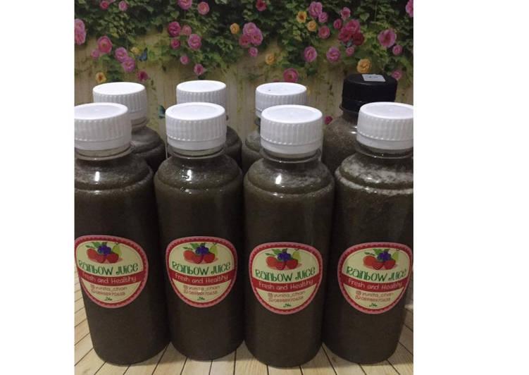 Resep Diet Juice Kailan Pear Lemon Blueberry Dates
