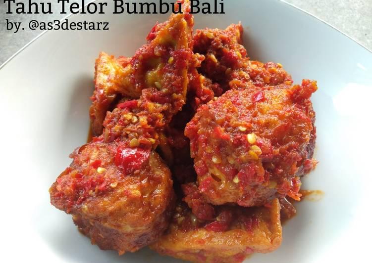 Resep Tahu Telor Bumbu Bali