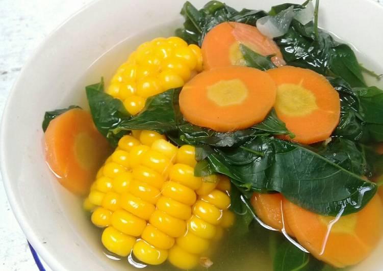 Resep Bening daun katuk jagung dan wortel