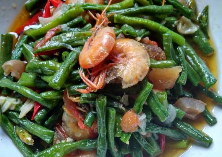 Resep Tumis udang kikil kacang panjang