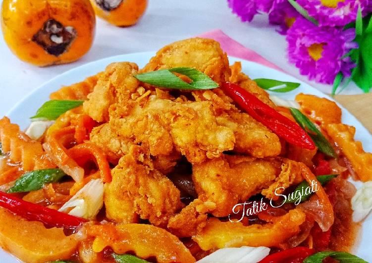 Resep Ayam Crispy Saus Asam Manis Kesemek