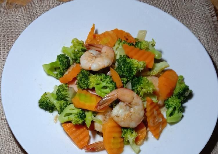 Resep Brokoli Udang wortel
