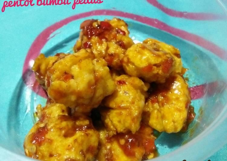 Resep Pentol ayam udang pedas