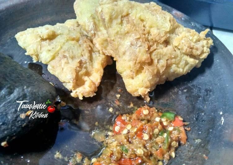 Resep Telur Dadar Crispy Sambal Bawang
