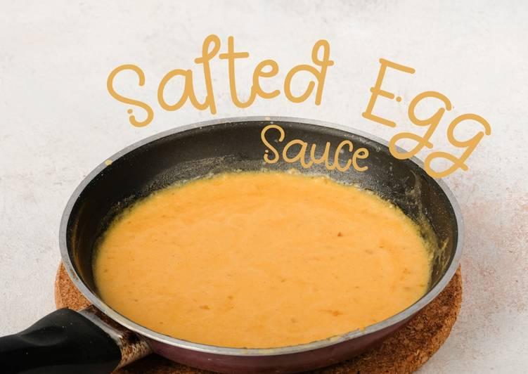 Resep Salted Egg Sauce (Saus Kuning Telur Asin)