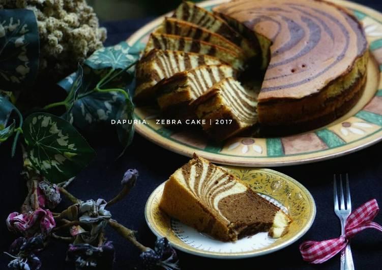 Resep Zebra cake putih telur