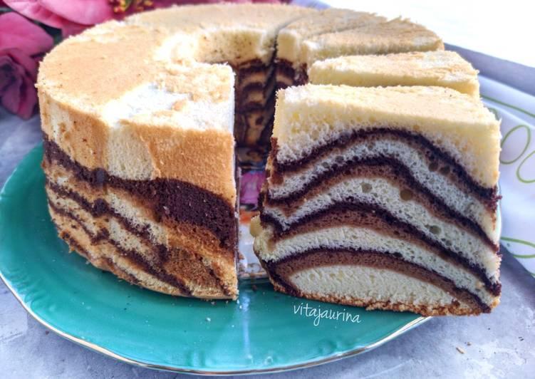 Resep Marmer Chiffon Cake